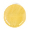Glass Pressed Beads 8mm Flat Round Mustard